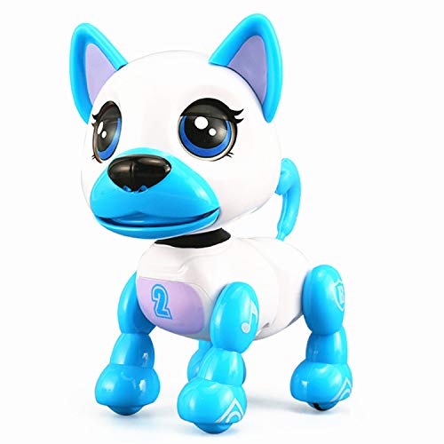 SoundOriginal Electronic Intelligent Pocket Pet Dog Interactive Puppy - Robot Dog Popular Toys Smart Pet Toy for Age 3 4 5 6 7 8 9 10 Year Old Boys Girls and Kids Gifts, Speech Recognition Dog (white)