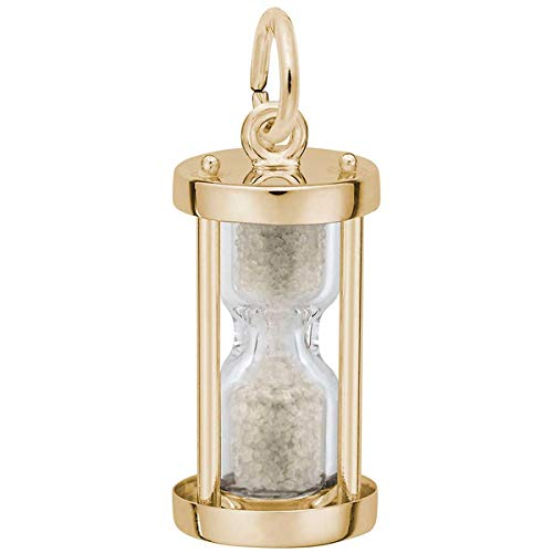 Rembrandt Charms Hourglass Charm, 14K Yellow Gold