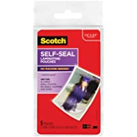 Scotch Self-Sealing Laminating Pouches, Gloss Finish, 2.5 Inches x 3.5 Inches, 5 Pouches, 6 Pack (PL903G)