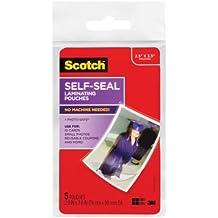 Scotch Self-Sealing Laminating Pouches, Wallet Size, 2.5 Inches x 3.5 Inches, 6 Packs of 5 Pouches, 30 Pouches Total (PL903G)