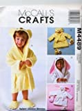 McCall's 4489 Joanne Berreta Toddlers Robes, Bath Mitt and Slippers Sewing Pattern