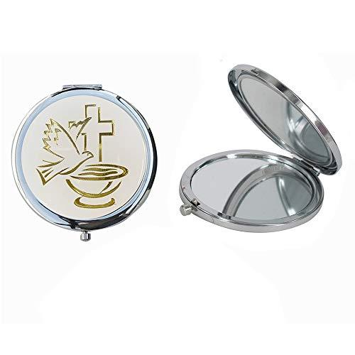 12 Pcs Baptism Party Favors for Boy and Girl -Recuerdos de Bautizo / Christening Makeup Compact Mirrors]()