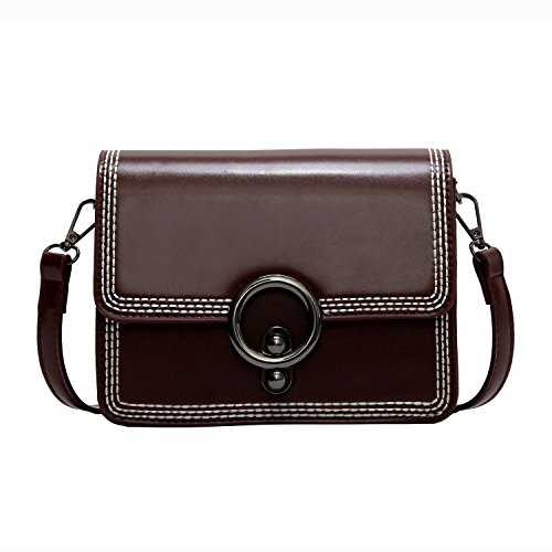 Women Leather Crossbody Bag,ACLULION Shoulder Bag Purses Messenger Bags for Traveling Wine by ACLULION