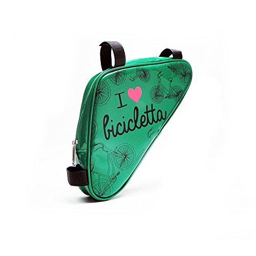 """Fahrradtasche Dreieckstasche in grün That's Italia """"I love bicicletta"""" Kollektion"""