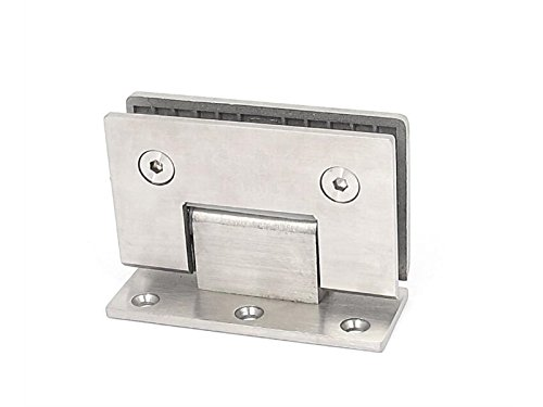 Hezon Thick Stainless Steel Bathroom Stair Glass Clip Clamp Support (Silver Tone) EASY TO USE by Hezon