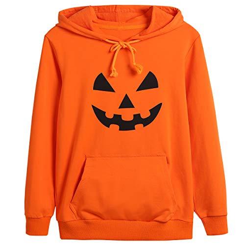 Kids Boys Girls Halloween Orange Jack O