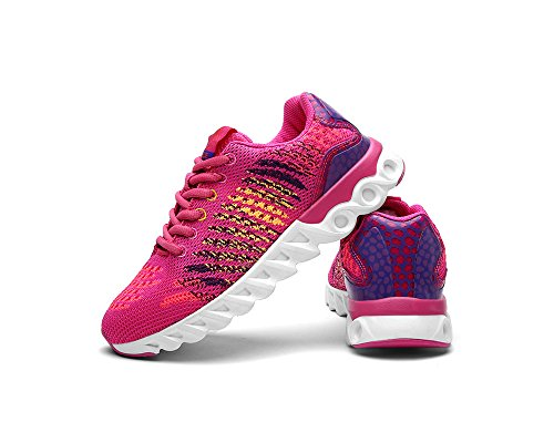 de Universidad Malla de Aire Zapatos Amortiguador Superior Zapatos Al Running Transpirable Libre Colorido La Rose Viajes Adolescentes Cordones con de Mujeres Aire 4xwW7XHTqn