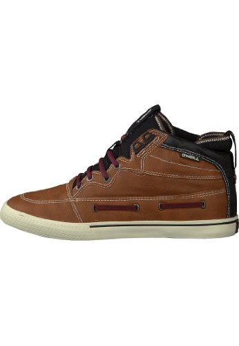 O'Neill Hightide - Zapatillas de deporte de piel para hombre Rust Red/Black Out