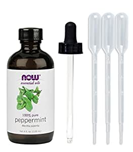 NOW Foods, Peppermint Oil 4 oz (w/ Glass Dropper)