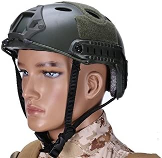 haoYK multifunci/ón Deporte Casco Protector Casco t/áctico para Airsoft y Paintball Tipo PJ r/ápido Casco