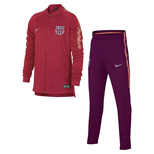Nike 2018-2019 Barcelona Squad Knit Tracksuit (Tropical Pink)