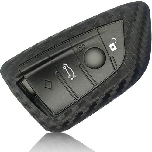 FoilsAndMore hoes compatibel met BMW 3-4 toetsen autosleutel (alleen Keyless-Go) – silicone beschermhoes cover…