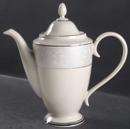 Lenox Innocence Pearl Dinnerware (Lenox Pearl Innocence Coffee Pot & Lid, Fine China Dinnerware)