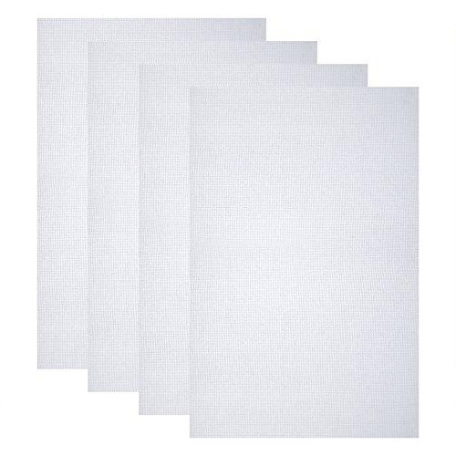 [해외]Caydo 4 Pieces 클래식 리저브 아이다 클로스 크로스 스티치 크로스, 18 인치, 화이트, 14 카운트/Caydo 4 Pieces Classic Reserve Aida Cloth Cross Stitch Cloth, 12 by 18-Inch, White, 14 Count