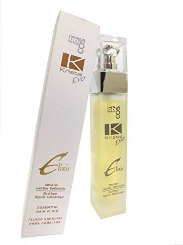 bbcos. Kristal Evo, Essential Hair Fluid with Linen Seed and Argan Oil 1.69 Oz by bb-cos