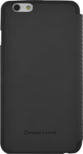 BigBen Christian La Croix Suiting Folio Schutzhülle für Apple iPhone 6 Plus schwarz
