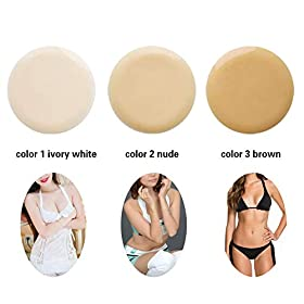 U-CHARMMORE Mastectomy Bra Silicone Breast Half Round Neck Enhancement Breast Forms