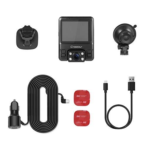 Uber Dual Dash Cam Car Dashboard 1080P 720P Inside Infrared Sony Sensor, Detection, G-Sensor and WDR