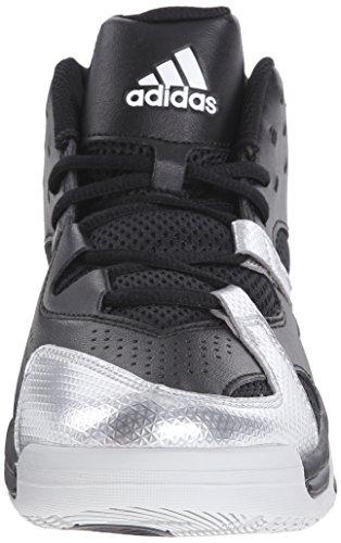 Scarpa Da Basket Adidas Performance Mens First Step, Nero / Bianco / Argento, 11,5 M Us