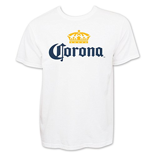 Corona Extra Men's Beer Logo T-Shirt Large White