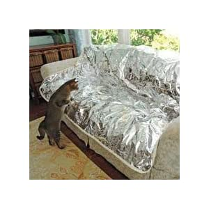 Pet Repeller Furniture Pad Sofa & Couch Mat, SILVER, 72″
