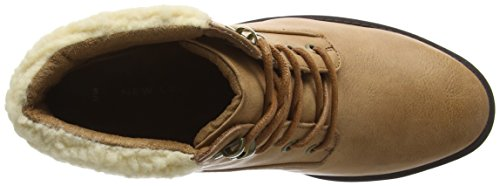 New Look Women's Bear Shearling Ankle Boots Beige (Tan/18) xQcQBBVEG
