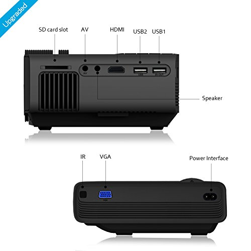 Meyoung tc80 led mini projector home theater lcd hd movie for Mini outdoor projector