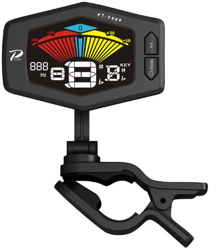 Profile PT-3000-BLK Headstock Tuner with Full Color LCD Screen, Black