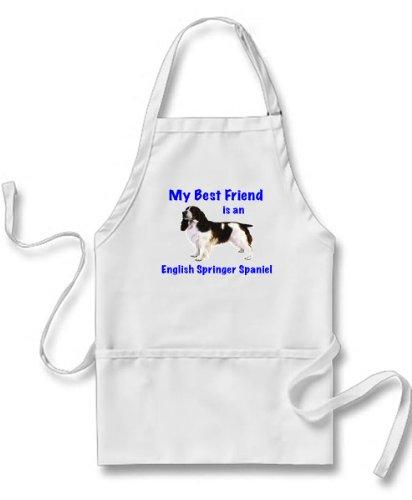 My Best Friend is English Springer Spaniel Apron