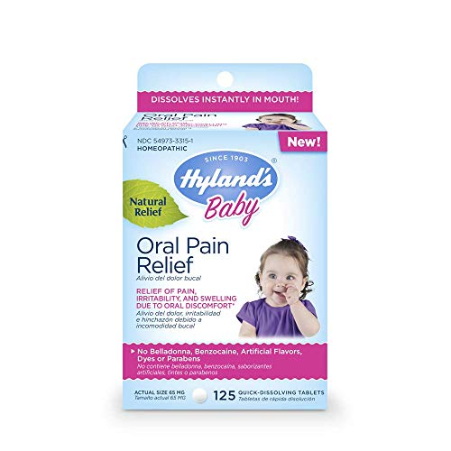 Hyland's Baby Oral Pain Relief Tablets, 125 Count Each (2)