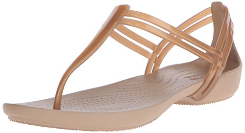 crocs Women's Isabella T-Strap Jelly Sandal, Bronze, 10 M US from Crocs
