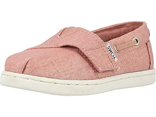 (TOMS Kids Baby Girl's Bimini (Toddler/Little Kid) Coral Pink Shimmer Canvas 6 M US Toddler)