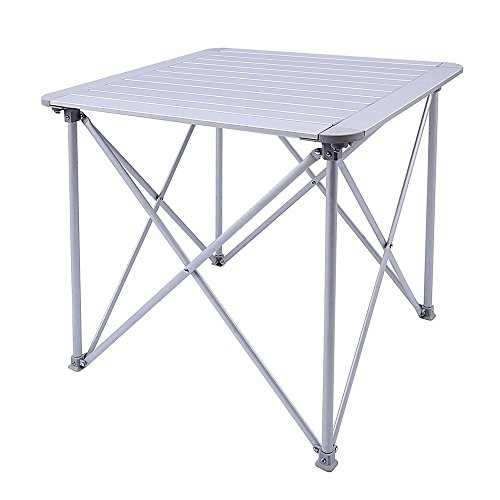 KingCamp Aluminum Alloy Folding Camp Table Roll-Top Lightweight Portable Stable Versatile 4 people Compact and Easy Transport for Camping Outdoor Picnic Vacation by KingCamp