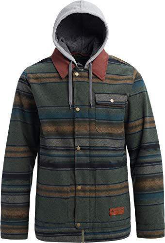 (Burton Dunmore Snowboard Jacket Clover Tusk Stripe Mens Sz)