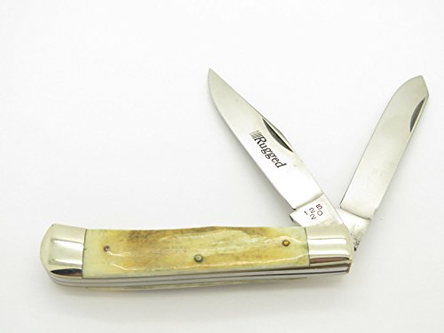 Vintage Parker Frost Rugged 125-20 Seki Japan Stag Trapper Folding Pocket Knife Camping Hunting (Bird Hunter Pocket Knife)