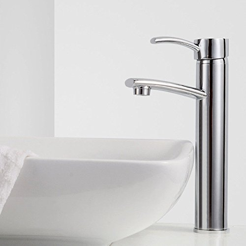 Lpophy Bathroom Sink Mixer Taps Faucet Bath Waterfall Cold and Hot Water Tap for Washroom Bathroom and Kitchen Hot and Cold Single Hole Quick Open Copper