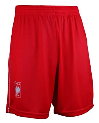 Polish Apparel Polska White Eagle Soccer Athletic Shorts Red Small