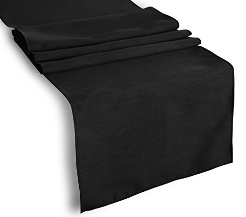Creative 13x 72 Classic Solid Table Top Runner - Black