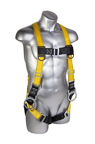 Guardian Descenso Protección 1702Velocity Economía Arnés con 3D Anillos Pass Thru Pecho y las piernas, tamaño...