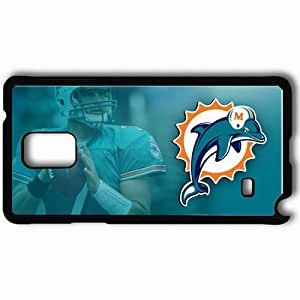 Personalized Samsung Note 4 Cell phone Case/Cover Skin 1355 miami dolphins Black