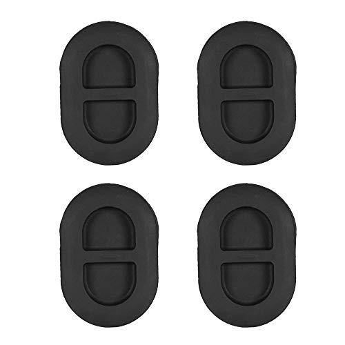 Godyluck 4Pcs Black Floor Pan Drain Plug Rear Floor Pan Body Plug Small Rubber Plug Fit for Jeep Wrangler JK JL