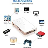 P8S Smart Mini Projector 2MP Pixel White US Power Supply By IKevan