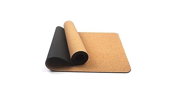 YUN-X Cork Yoga Mat Sports Fitness Mat Antideslizante ...