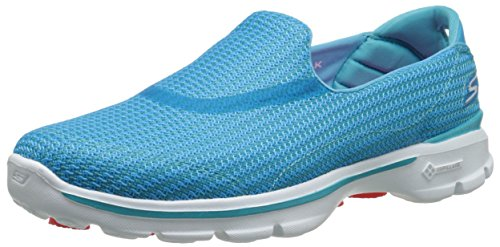 Skechers Performance Women's Go Walk 3 Slip-On Walking Shoe, Turquoise, 10 M -
