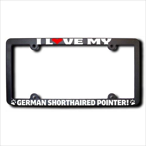 I Love My GERMAN SHORTHAIRED POINTER License Plate Frame