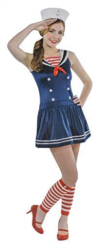 Cute Sailor Costumes Girls (Juniors Sailor Sweetie Costume Size Medium (7-9))