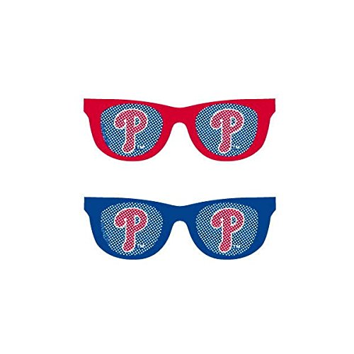 Sports and Tailgating MLB Party Philadelphia Phillies Printed Glasses Accessory, Plastic, 2