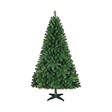 Holiday Time Unlit 6.5 Feet Jackson Spruce Green Artificial Christmas Tree (Tree only - Unlit, Undecorated)
