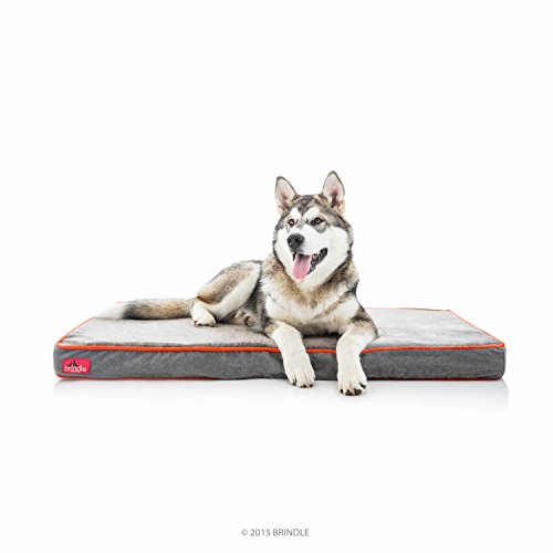 Brindle Soft Velour Pet Bed, Medium 34 x 22, Charcoal...