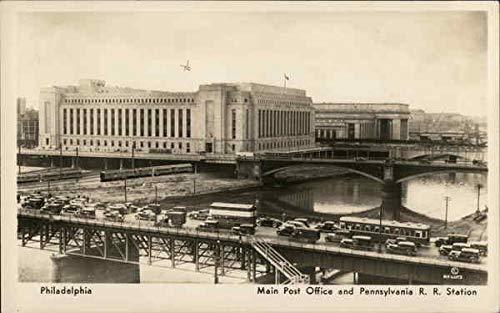Main Post Office and Pennsylvania R. R. Station Philadelphia PA Original Vintage Postcard